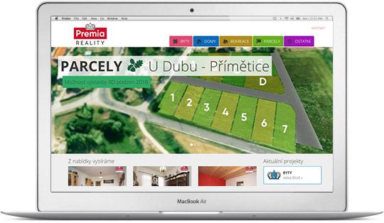 PREMIA REALITY - nejnavštěvovanější realitní web ve Znojmě
